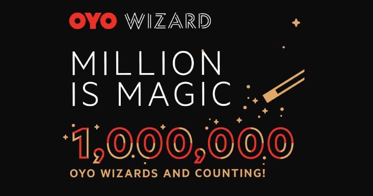 OYO has 1 Million Wizards